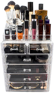 Sorbus Cosmetic Makeup and Jewelry Storage Case Display