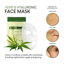 Load image into Gallery viewer, AZURE Hemp & Hyaluronic Nourishing Sheet Face Mask - Coco Mink Lashes