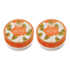 Coty Airspun Loose Face Powder, Translucent Setting Makeup Pack of 2 - Coco Mink Lashes