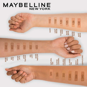 Maybelline Fit Me Matte Liquid Foundation Makeup, Natural Beige, 1 fl. oz