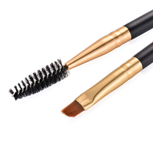 Duo Eye brow Brush Professional Tool - Coco Mink Lashes