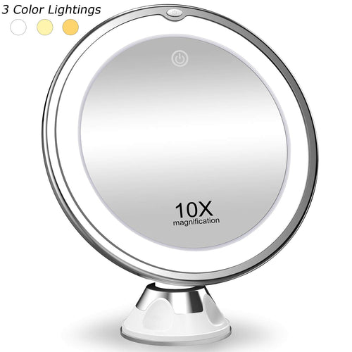 10X Magnifying, 3 Color Light Modes Mirror