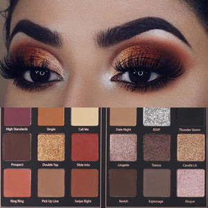 Matte and Shimmer Eyeshadow Palette Pro 18 Colors  (01# Seductress)