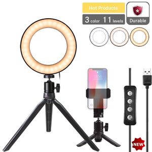 "Natwag 6"" Selfie Ring Light with Tripod Stand & Cell Phone Holder"