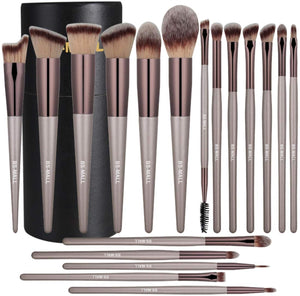 BS-MALL Makeup Brush Set 18 Pcs - Coco Mink Lashes