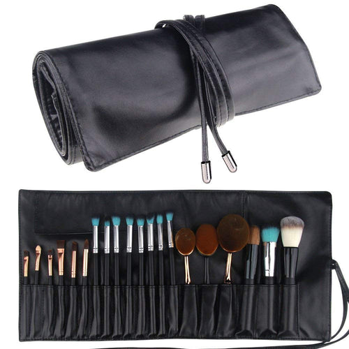 Relavel Makeup Brush Rolling Case Pouch Holder Cosmetic Bag Organizer - Coco Mink Lashes