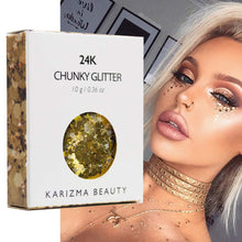 Load image into Gallery viewer, Karizma 24K Gold Chunky Glitter - Coco Mink Lashes