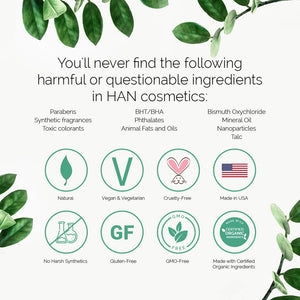 HAN Skincare Cosmetics All Natural Cheek and Lip Tint, Rose Dust - Coco Mink Lashes