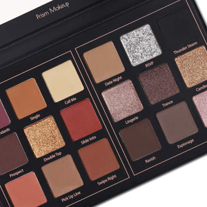 Matte and Shimmer Eyeshadow Palette Pro 18 Colors  (01# Seductress) - Coco Mink Lashes