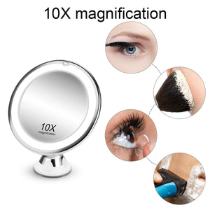 10X Magnifying, 3 Color Light Modes Mirror - Coco Mink Lashes