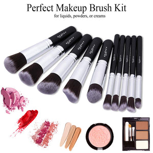 BEAKEY Makeup Brush Set, Kabuki - Coco Mink Lashes