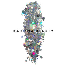 Load image into Gallery viewer, Karizma Silver Holographic Chunky Glitter - Coco Mink Lashes