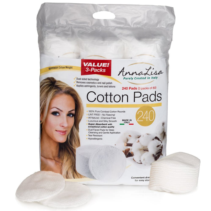 100% Pure Cotton3 Packs of 80 Hypoallergenic