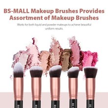 Load image into Gallery viewer, BS-MALL Makeup Brushes 14 Pcs Brush Set, Rose Golden, 1 Count - Coco Mink Lashes