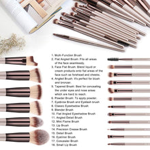 Load image into Gallery viewer, BS-MALL Makeup Brush Set 18 Pcs - Coco Mink Lashes