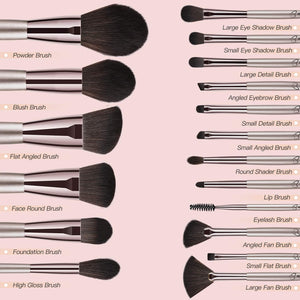 BESTOPE 18 Pcs Makeup Set - Coco Mink Lashes