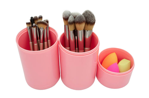 AIVISBEL Brush+Beauty Sponge Case - Coco Mink Lashes