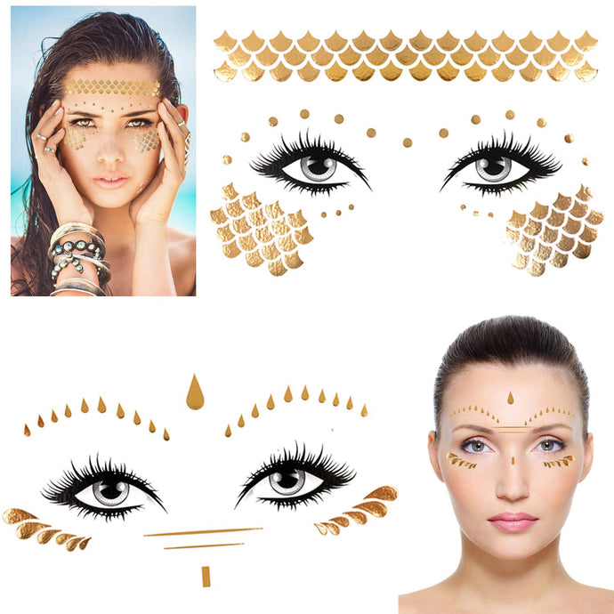 Konsait 8 Sheets Face Tattoo Sticker - Coco Mink Lashes