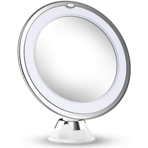 10X Magnifying Makeup Mirror With Lights, LED Lighted Portable - Coco Mink Lashes
