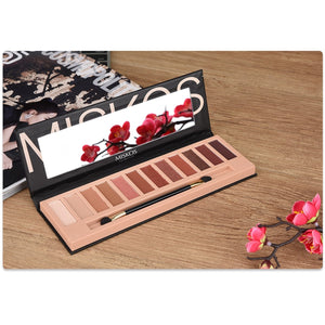 MISKOS 12 Colors Nude Eyeshadow Palette Shimmer And Matte - Coco Mink Lashes