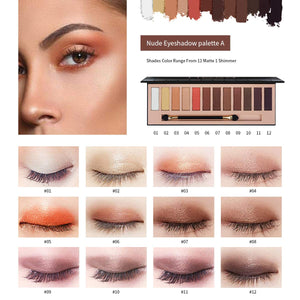 Serseul 12 Color Highly Pigmented Eyeshadow Palette