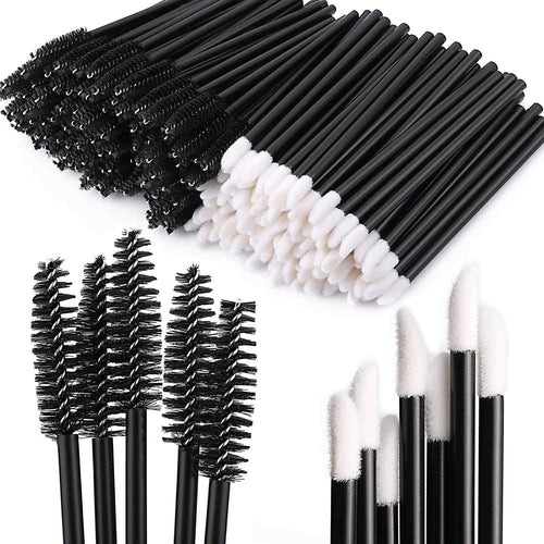 200 Disposable Mascara Wand Spoolies and Lip Brushes, Lipstick Lipgloss Applicator