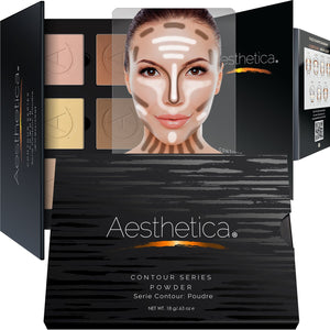 Aesthetica Cosmetics Contour Kit - Powder Contour, Highlighter & Bronzer - Coco Mink Lashes