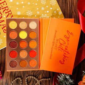DE'LANCI Eye-catching Eyeshadow Pallete Orange Matte Shimmer - Coco Mink Lashes
