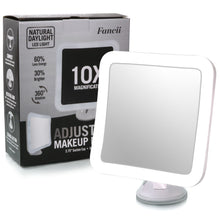 Load image into Gallery viewer, Fancii 10X Magnifying Lighted Makeup Mirror
