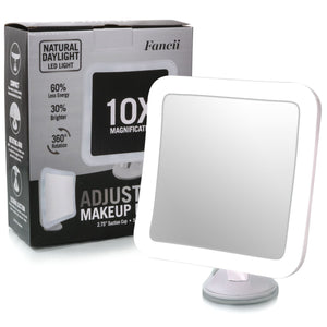Fancii 10X Magnifying Lighted Makeup Mirror - Coco Mink Lashes