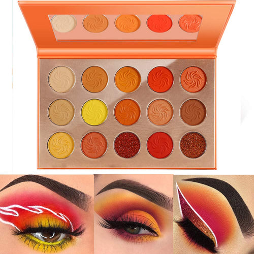DE'LANCI Eye-catching Eyeshadow Pallete Orange Matte Shimmer