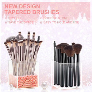 BESTOPE Makeup Brushes 14 Pieces - Coco Mink Lashes