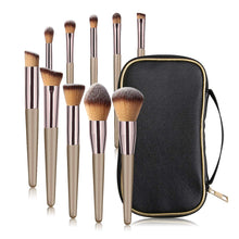 Load image into Gallery viewer, MAANGE 10 Pcs Travel Face Makeup Brushes - Coco Mink Lashes