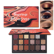Load image into Gallery viewer, Matte and Shimmer Eyeshadow Palette Pro 18 Colors  (01# Seductress)