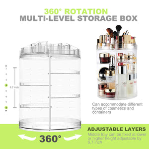Makeup Organizer, 360 Rotation - Coco Mink Lashes