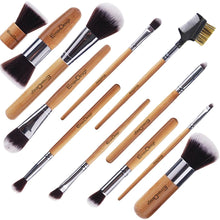 Load image into Gallery viewer, EmaxDesign 12 Pieces Bamboo Makeup Brush Set - Coco Mink Lashes