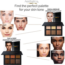Load image into Gallery viewer, Aesthetica Cosmetics Contour Kit - Powder Contour, Highlighter & Bronzer - Coco Mink Lashes