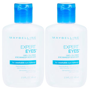 Maybelline New York Expert Eyes Oil-free Eye Makeup Remover, 2 Count - Coco Mink Lashes