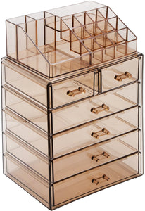 Sorbus Cosmetic Makeup and Jewelry Storage Case Display - Coco Mink Lashes
