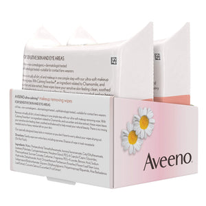 Aveeno Ultra Cleansing Towelettes Oil-Free Sensitive Skin, 25 Count, Twin Pack - Coco Mink Lashes