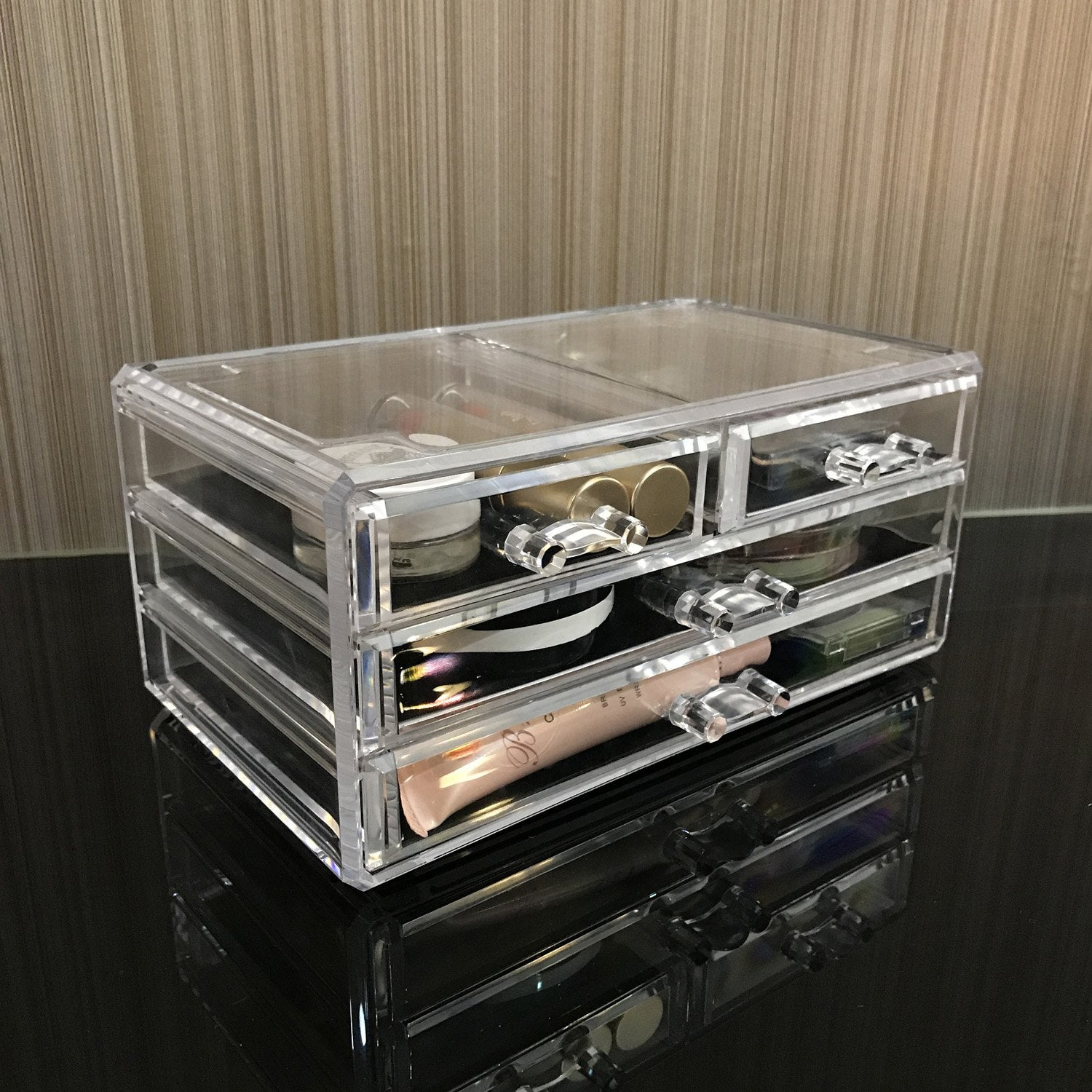 Ikee Design Acrylic Jewelry Makeup Cosmetic Storage Coco Mink Lashes