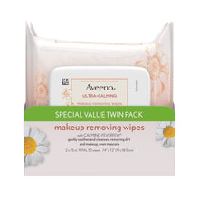 Load image into Gallery viewer, Aveeno Ultra Cleansing Towelettes Oil-Free Sensitive Skin, 25 Count, Twin Pack - Coco Mink Lashes