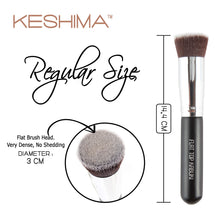 Load image into Gallery viewer, Keshima Flat Top Kabuki Foundation Brush - Coco Mink Lashes