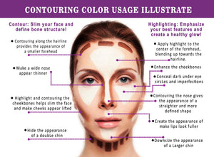 Youngfocus Cosmetics Cream Contour Best 8 Colors Contouring Foundation - Coco Mink Lashes