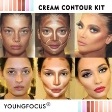 Load image into Gallery viewer, Youngfocus Cosmetics Cream Contour Best 8 Colors Contouring Foundation - Coco Mink Lashes
