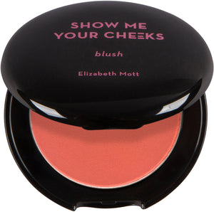 Show Me Your Cheeks Powder Blush (cruelty free and paraben free) - Bright Coral - Coco Mink Lashes