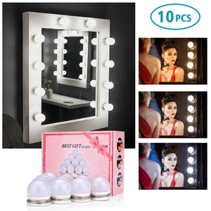 Hollywood LED Light Bulb Makeup Mirror