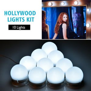 Hollywood LED Light Bulb Makeup Mirror - Coco Mink Lashes