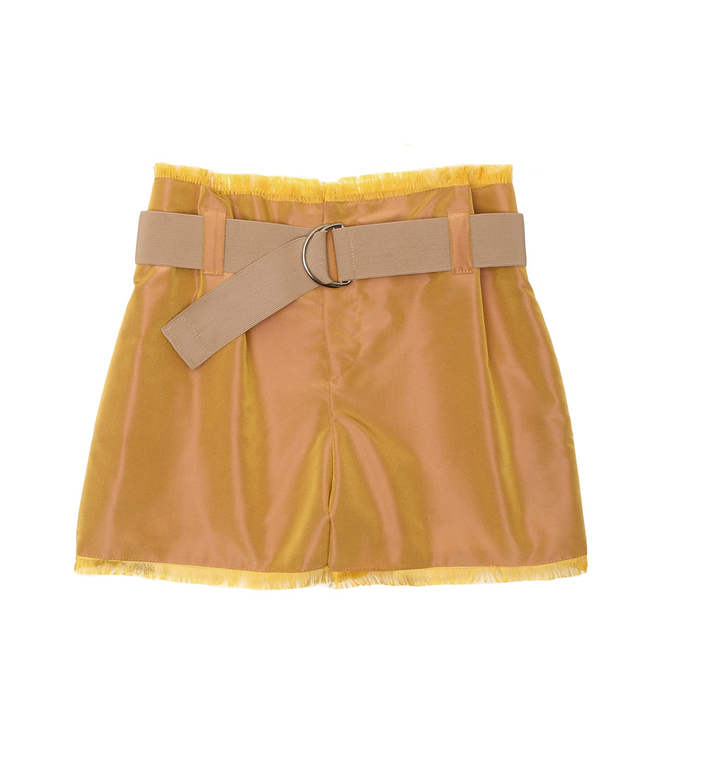 OPALESCENT  High Waist Shorts YELLOW