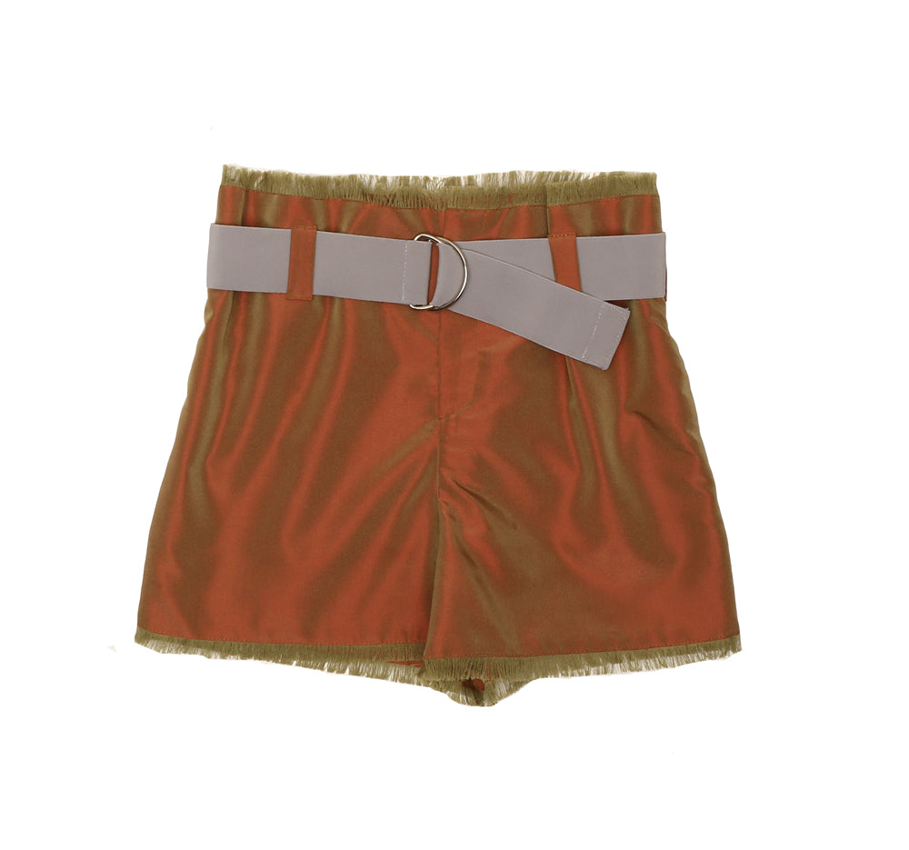 OPALESCENT High Waist Shorts CEDAR